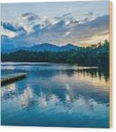Lake Santeetlah In Great Smoky Mountains North Carolina Wood Print