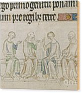 Queen Mary Psalter Wood Print