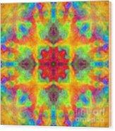 Rainbow Light Mandala Wood Print
