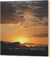 Sunset. Wood Print