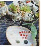 Sushi California Roll Wood Print