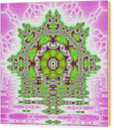 The Kaleidoscope Reflections Wood Print