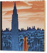 New Yorker January 12th, 2009 Wood Print