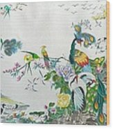 100 Birds Wood Print