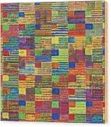 100 Flags Wood Print