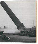 100-foot Chimney Stack Demolished At Silvertown Wood Print