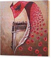 100 Vjetori I Pavaresis Se Shqiperise  Wood Print