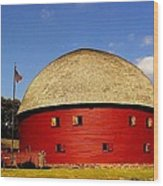 100 Year Old Round Red Barn  Wood Print