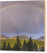 100801a-14 Two Medicine Rainbow Wood Print
