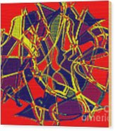 1010 Abstract Thought Wood Print
