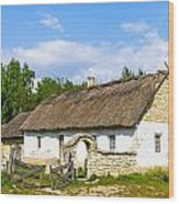 A Typical Ukrainian Antique House Wood Print