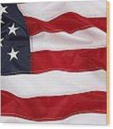 American Flag Wood Print