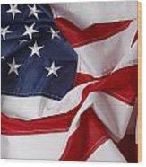 American Flag 34 Wood Print