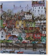 107 Windows Of Kinsale Co Cork Wood Print