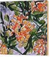 Heavenly Flowers Wood Print