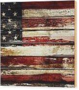 American Flag 33 Wood Print