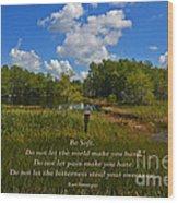 109- Kurt Vonnegut Wood Print