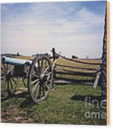 10th Mass Battery - Gettysburg Wood Print