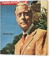 1950s Uk Illustrated Magazine Cover Wood Print
