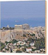 Acropolis Of Athens Wood Print