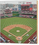 Atlanta Braves V. Washington Nationals Wood Print