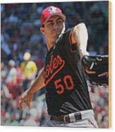Baltimore Orioles V Boston Red Sox - Wood Print