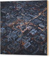 Belfast At Night, Northern Ireland Wood Print