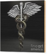 Caduceus Wood Print