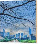 Charlotte Downtown Wood Print