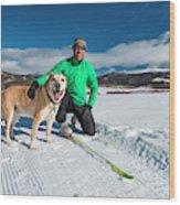 Colorado Cross Country Skiing Wood Print