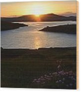 Dingle Sunset Wood Print