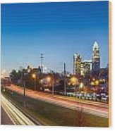 Early Morning In Charlotte Nc Wood Print