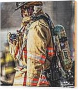 Firefighters Wood Print