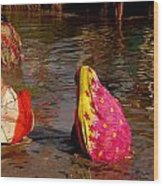 Hampi Ghats Wood Print