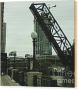 Kinzie Street Bridge Wood Print