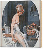 La Vie Parisienne  1926 1920s France Cc Wood Print