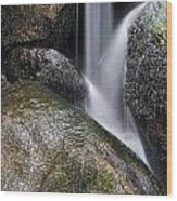 Landscape Of Becky Falls Waterfall In Dartmoor National Park Eng Wood Print