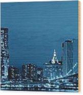 Manhattan Downtown Wood Print