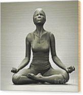 Meditation Pose Wood Print
