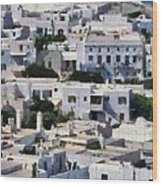 Mykonos Town Wood Print