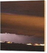 Nebraska Roll Cloud A Cometh Wood Print