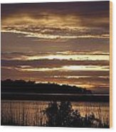 Outer Banks North Carolina Sunset Wood Print