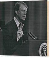 President Jimmy Carter Wood Print