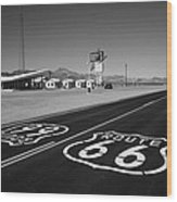 Route 66 Shield Wood Print