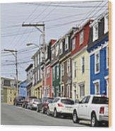 Saint John's. Newfoundland. Wood Print
