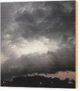 Stong Nebraska Supercells Wood Print