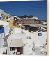 Views From Santorini Greece Wood Print