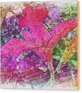 The Red Orchid Wood Print