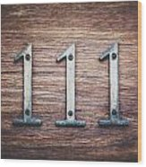 111 Or 3 Wood Print
