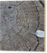 111 Wood Print
